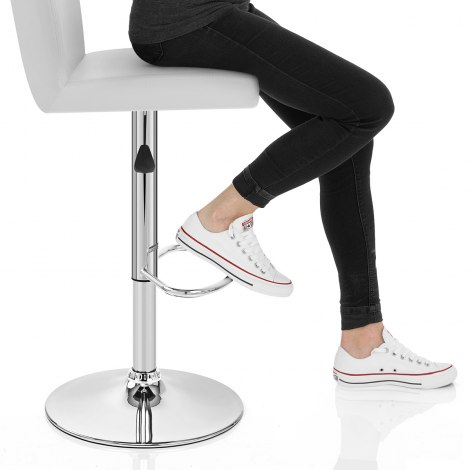 Topaz Bar Stool White Seat Image