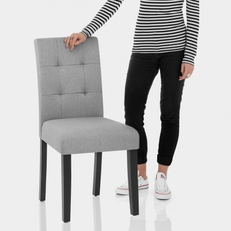 Torino Dining Chair Grey Fabric Features Image