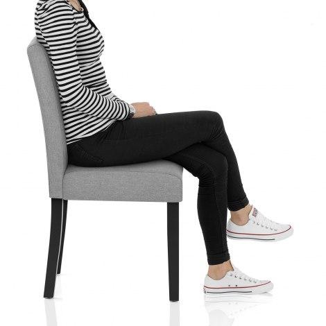 Torino Dining Chair Grey Fabric Seat Image