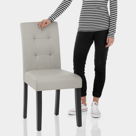 Torino Dining Chair Grey Leather Features Image