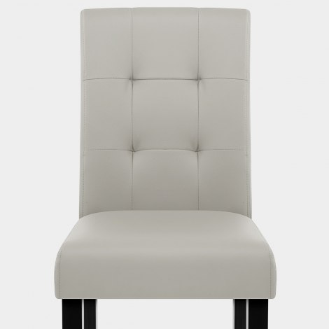 Torino Dining Chair Grey Leather Seat Image