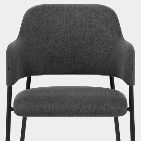 Trent Dining Chair Charcoal Fabric Seat Image