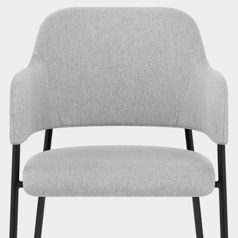 Trent Dining Chair Light Grey Fabric Seat Image