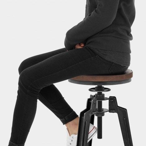 Trio Stool Gunmetal Seat Image