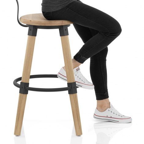 Troy Wooden Bar Stool Seat Image