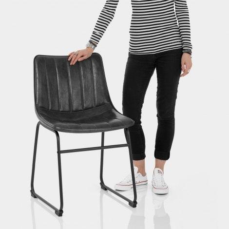 Tucker Chair Antique Black Features Image