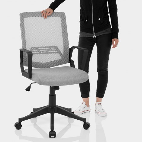 Tuscan Mesh Office Chair Grey Features Image