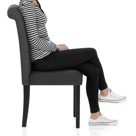 Utah Dining Chair Charcoal Fabric Frame Image