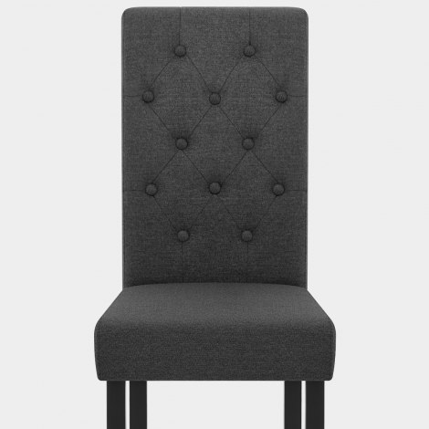 Utah Dining Chair Charcoal Fabric Seat Image