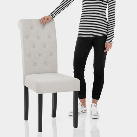 Utah Dining Chair Pebble Fabric Features Image