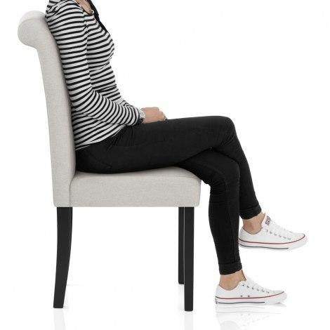 Utah Dining Chair Pebble Fabric Frame Image