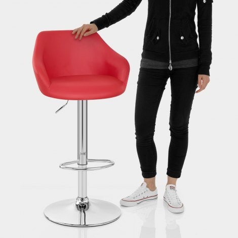 Utopia Bar Stool Red Features Image