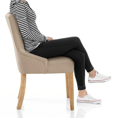 Verdi Chair Oak & Beige Seat Image