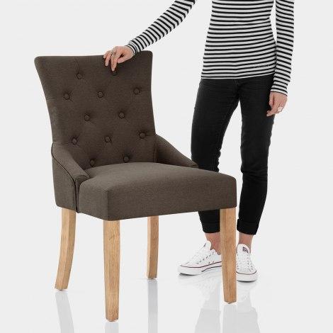 Verdi Chair Oak & Brown Features Image