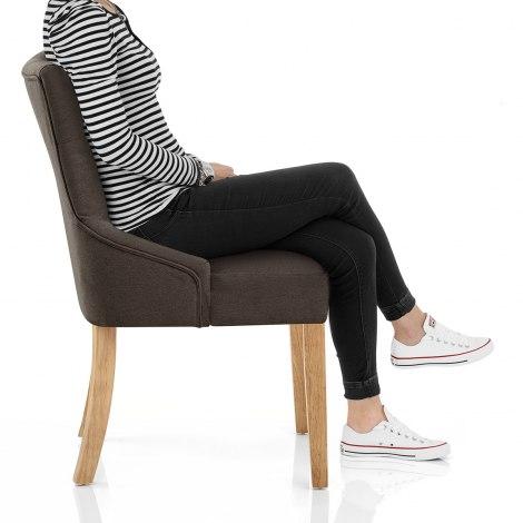 Verdi Chair Oak & Brown Seat Image