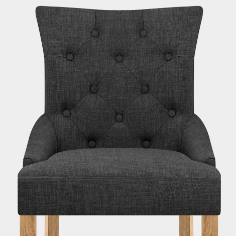 Verdi Chair Oak & Grey Seat Image