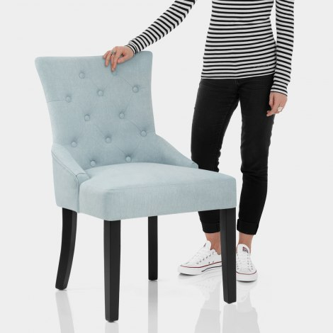 Verdi Dining Chair Duck Egg Blue Features Image