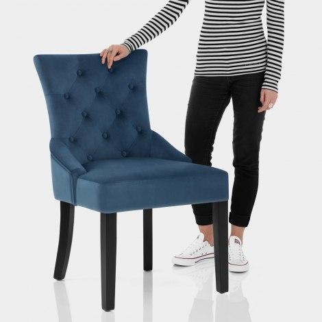 Verdi Dining Chair Blue Velvet Features Image