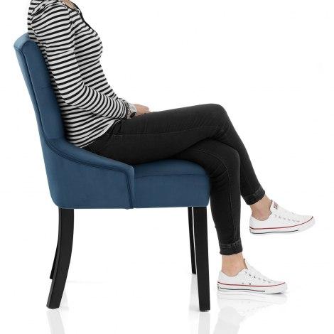 Verdi Dining Chair Blue Velvet Frame Image