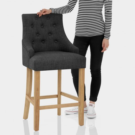 Verdi Bar Stool Charcoal Features Image