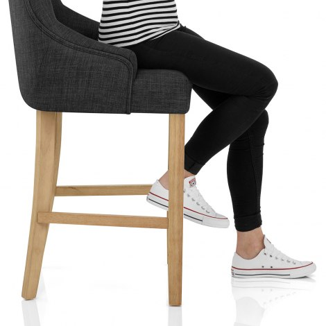 Verdi Bar Stool Charcoal Seat Image