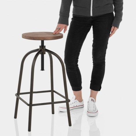 Vice Industrial Stool Features Image