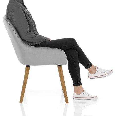 Vienna Dining Chair Grey Velvet Frame Image