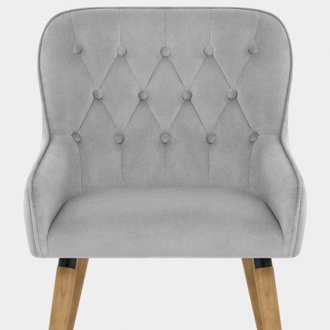 Vienna Dining Chair Grey Velvet Seat Image