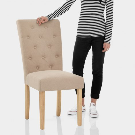 Vigo Chair Oak & Beige Features Image