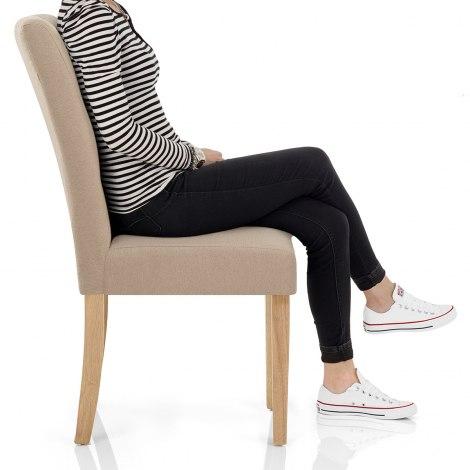 Vigo Chair Oak & Beige Seat Image