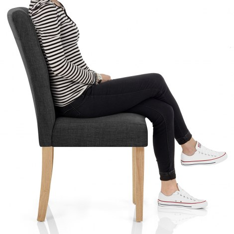 Vigo Chair Oak & Grey Seat Image
