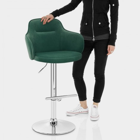 Vista Bar Stool Green Velvet Features Image