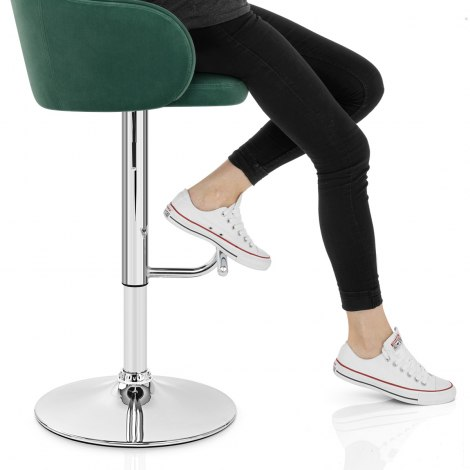 Vista Bar Stool Green Velvet Seat Image