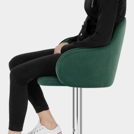 Vista Bar Stool Green Velvet Seat Image