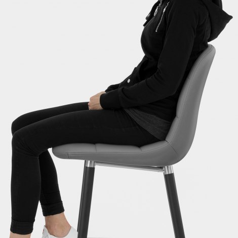 Vivo Bar Stool Dark Grey Seat Image