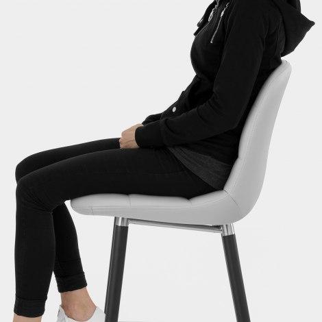Vivo Bar Stool Light Grey Seat Image