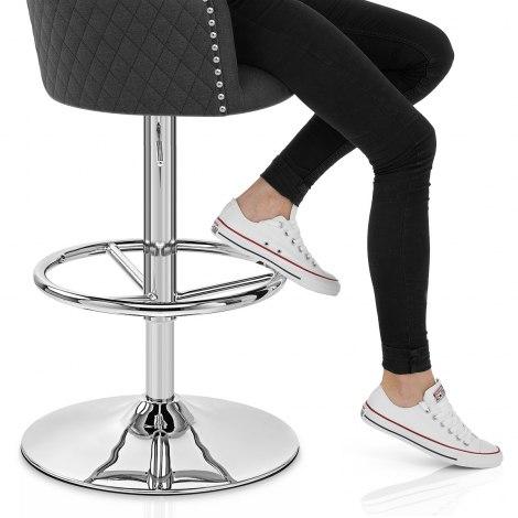 Vogue Bar Stool Charcoal Fabric Seat Image
