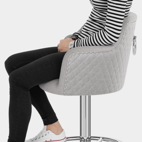 Vogue Bar Stool Grey Fabric Seat Image