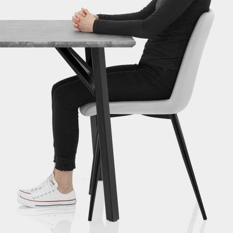 Warwick Dining Set Concrete & Light Grey Seat Image