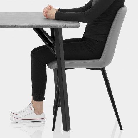 Warwick Dining Set Concrete & Mid Grey Seat Image