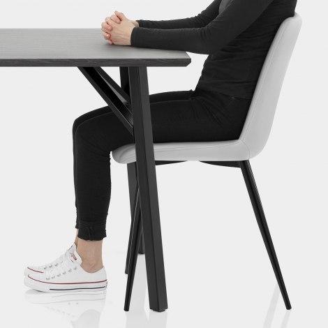 Warwick Dining Set Grey Wood & Light Grey Seat Image