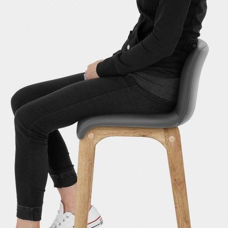 Wave Bar Stool Grey Seat Image