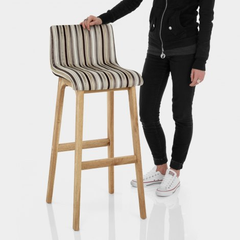 Wave Bar Stool Stripe Fabric Features Image