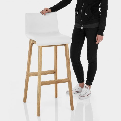 Wave Bar Stool White Features Image
