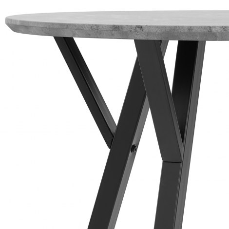 Wessex Dining Set Concrete & Charcoal Frame Image