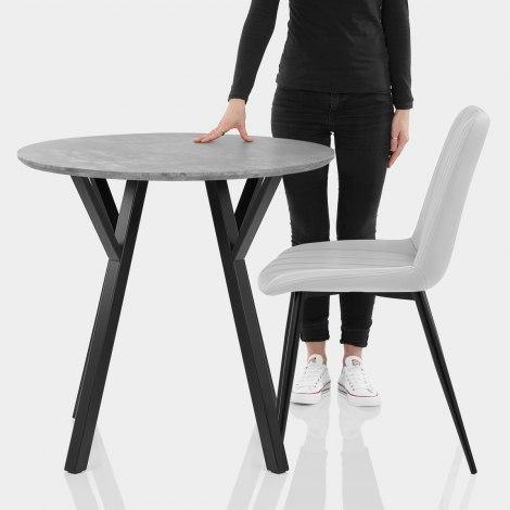 Wessex Dining Set Concrete & Light Grey Features Image