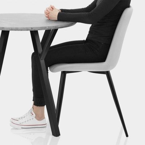 Wessex Dining Set Concrete & Light Grey Seat Image