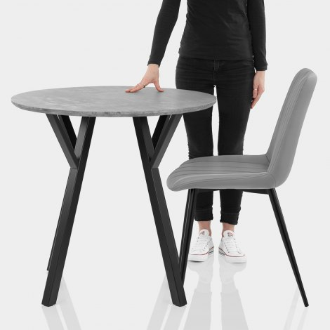 Wessex Dining Set Concrete & Mid Grey Features Image