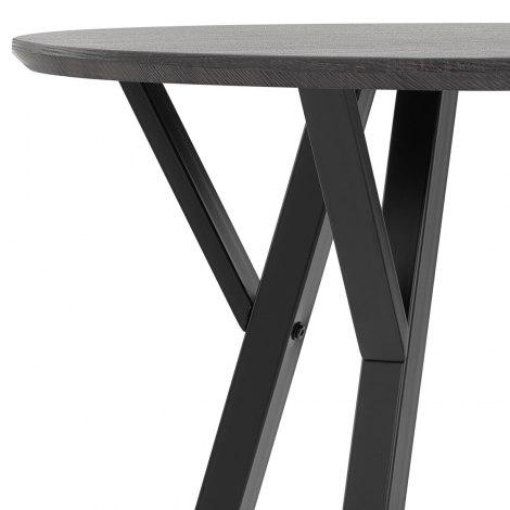 Wessex Dining Set Grey Wood & Charcoal Frame Image