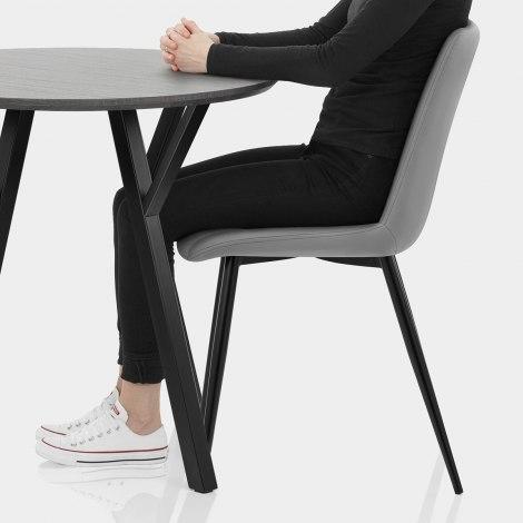 Wessex Dining Set Grey Wood & Mid Grey Seat Image